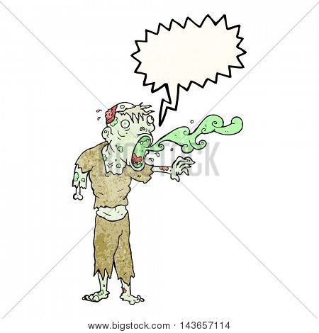 freehand drawn texture speech bubble cartoon gross zombie