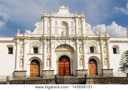 Guatemala View of San Jose cathedral Antigua Central America