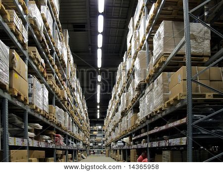 Warehouse Full Of Goods