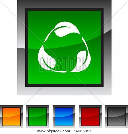 Recycle icon set. Vector illustration.