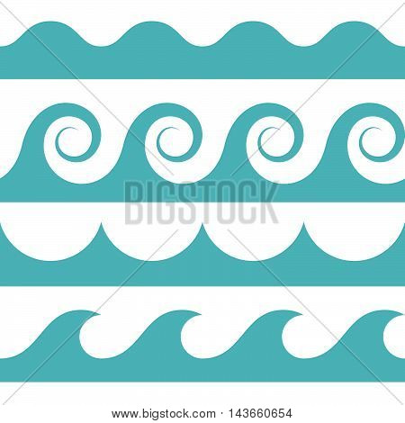 blue and white colored seamless Waves pattern