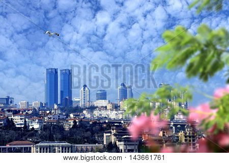 cityscape shot of European side of istanbul