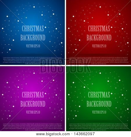 New multi-colored background with snowflakes and sparkles.