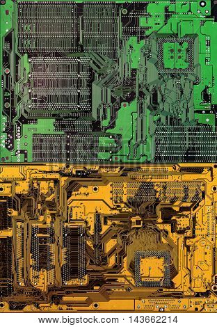 background image of computer parts of mother board