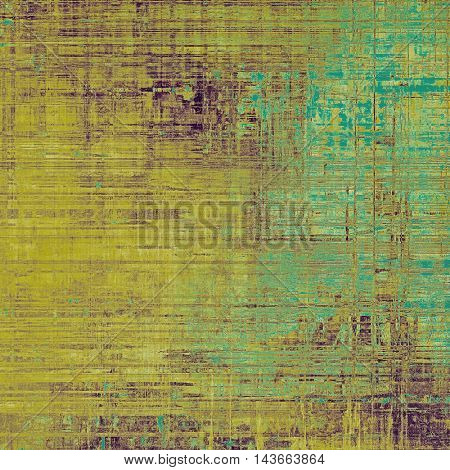 Vintage decorative background, antique grunge texture with different color patterns: yellow (beige); brown; green; blue; purple (violet)