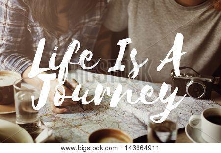 Journey Travel Trek Trip Explore Exploration Concept