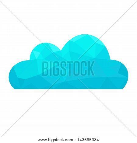 Polygon blue cloud. Abstract polygonal vector concept.