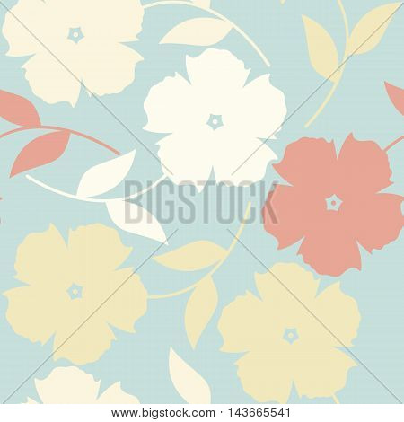 Endless pattern with tender decorative flowers. Perfect template can be used for cards, web pages, textile ,linen ,tile and more creative designs.