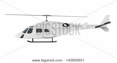 Helicopter isolated on white background. 3D render