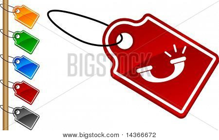 Telephone  tag set. Vector illustration.