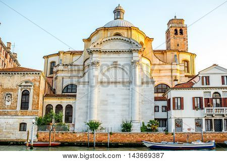 Geremia e Lucia church near Gand canal at the sunrise in Venice