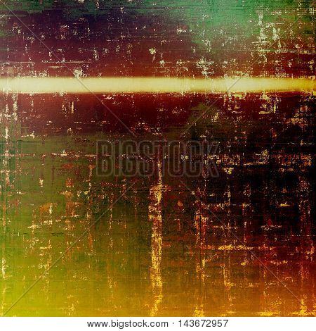 Traditional grunge background, scratched texture with vintage style design and different color patterns: yellow (beige); brown; green; red (orange); pink