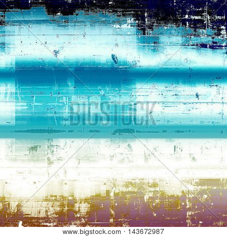 Vintage elegant background, creased grunge backdrop with aged texture and different color patterns: yellow (beige); black; blue; white; cyan; pink