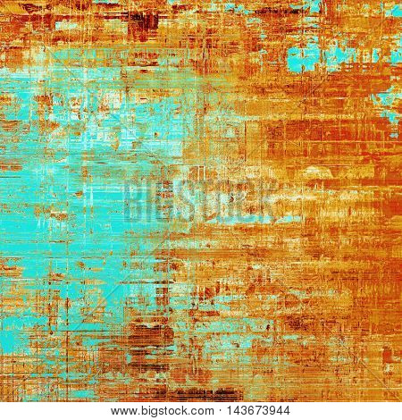Rough textured backdrop, abstract vintage background with different color patterns: yellow (beige); brown; blue; red (orange); white; cyan