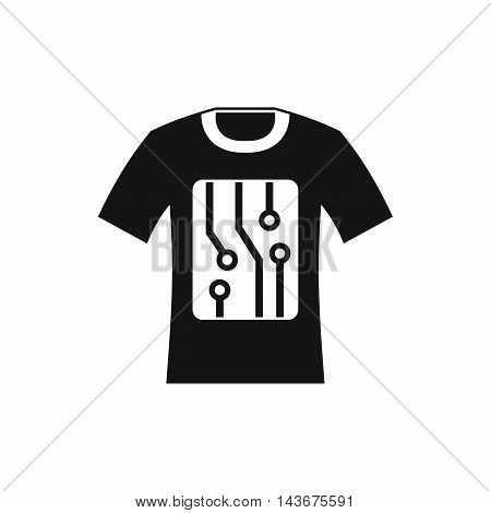 Electronic t-shirt icon in simple style isolated on white background