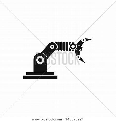 Robotic hand manipulator icon in simple style isolated on white background