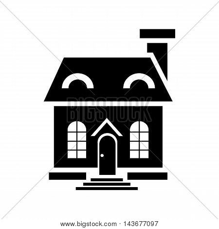 Elegant little house icon in simple style isolated on white background