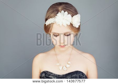 Cute Girl with Boho Chic Hairstyle Dress and Bohemian Boho Chic Hairstyle