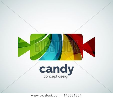 Vector candy logo template, abstract business icon