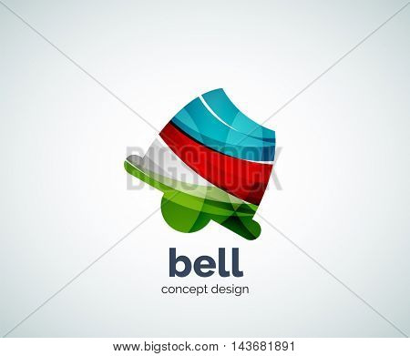 Vector Christmas bell logo template, abstract business icon