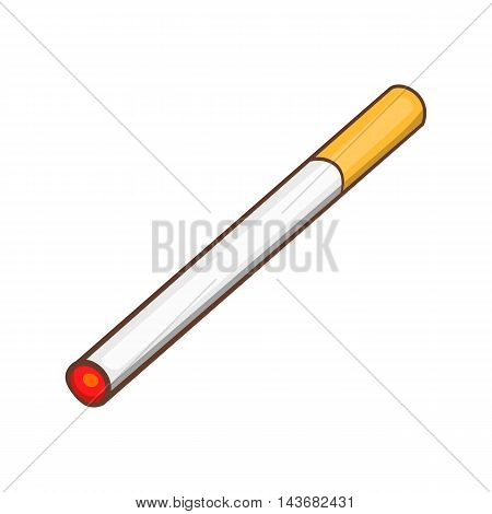 Cigarette icon in cartoon style isolated on white background. Smoking symbol