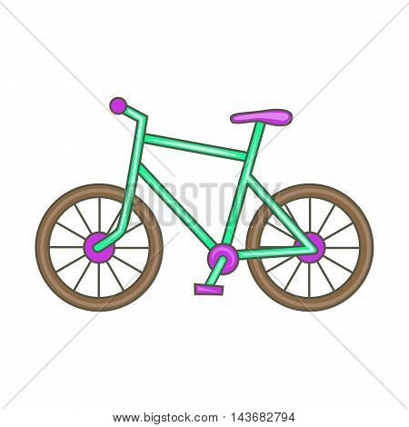Bicycle icon in cartoon style isolated on white background. Sport symbol
