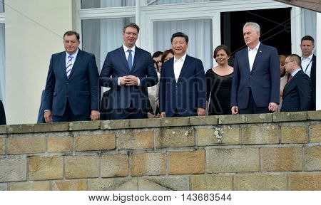 Belgrade Serbia. 19th June 2016. President of the People's Republic of China Xi Jinping on an official three-day visit to the Republic of Serbia June 17-19 at the invitation of President of Republic of Serbia Tomislav Nikolic