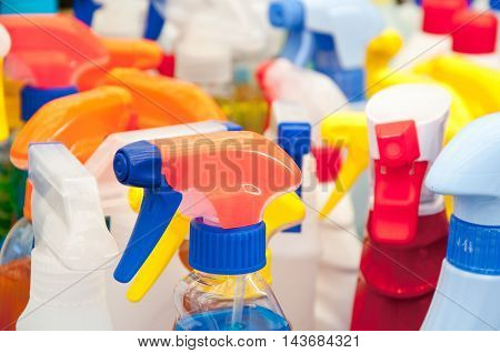 colorful plastic caps for detergents shampoos and liquid soaps