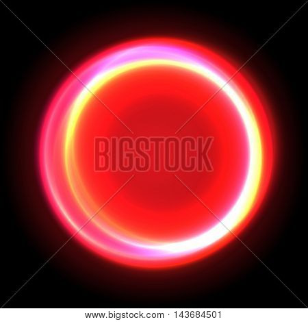 Neon cirkle vector light effect glow and flash. Energy background.