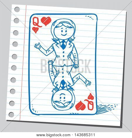 Businesswoman playing card