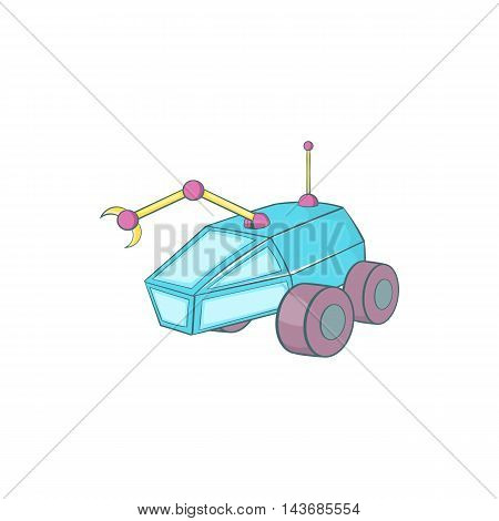 Rover icon in cartoon style isolated on white background. Transport symbol