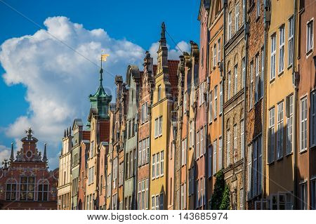 Architecture of old town in Gdansk Europe