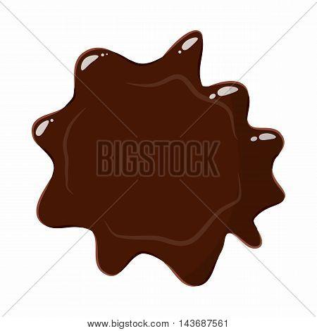 Dark chocolate icon isolated on white background. Sweets symbol