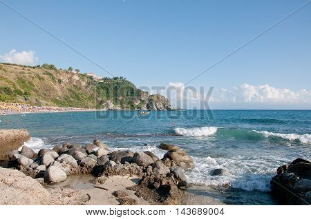 the beautiful beach of
