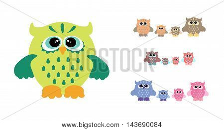 Owl Family Set