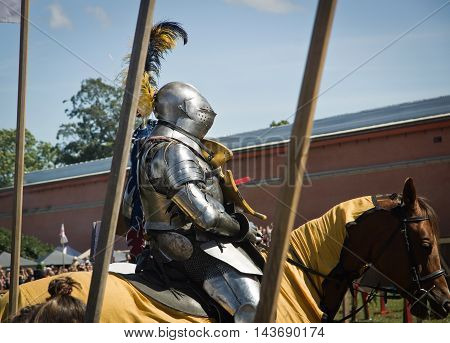 Saint-petersburg, Russia - July 17, 2016: Battle On A Neva Knightly Tournament