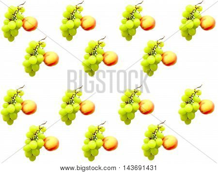 Fruits on a white background wallpaper food nutrition health benefit vitamins diet weight loss grapes peach taste appetite