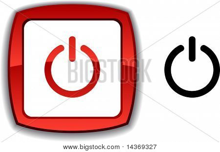 Switch  realistic button. Vector illustration.
