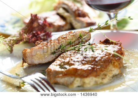 Pork Cutlet With Cheese