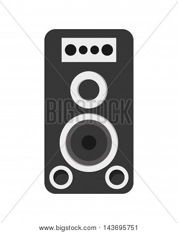 flat dessign music speaker icon vector illustration