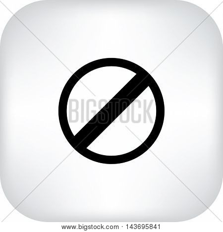 Flat Vector Stop sign icon.