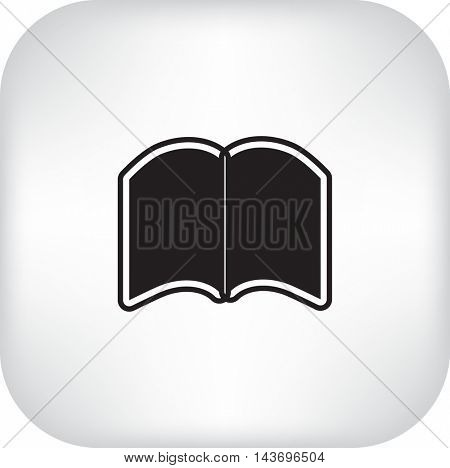 Flat icon. Open book.