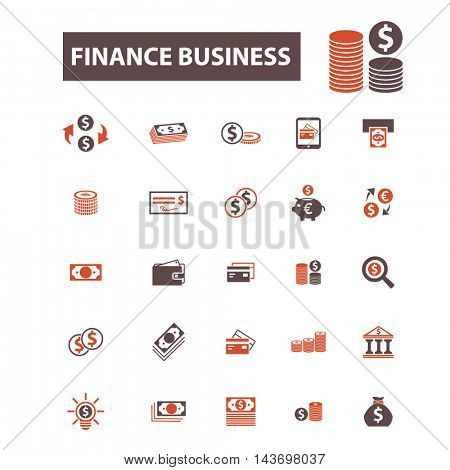 finance business icons