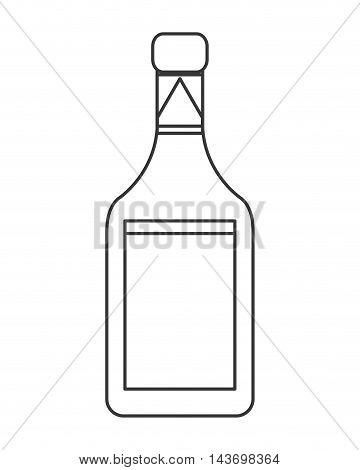 flat design liquor bottle icon vector illustration
