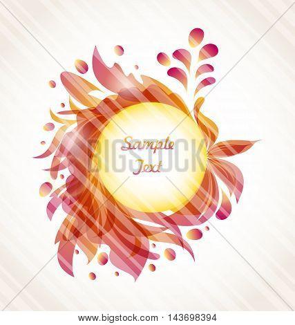 Illustration Abstract Flourish Transparent Frame, Ornamental Elements - Vector