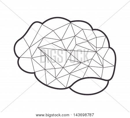flat design abstract human head icon vector illustration