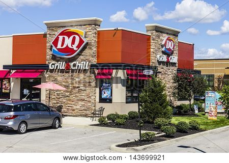 Indianapolis - Circa August 2016: Dairy Queen Retail Fast Food Location. DQ is a Subsidiary of Berkshire Hathaway III