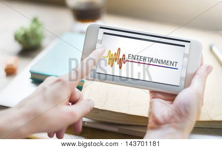 Online Music Multimedia Entertainment Sounds Concept