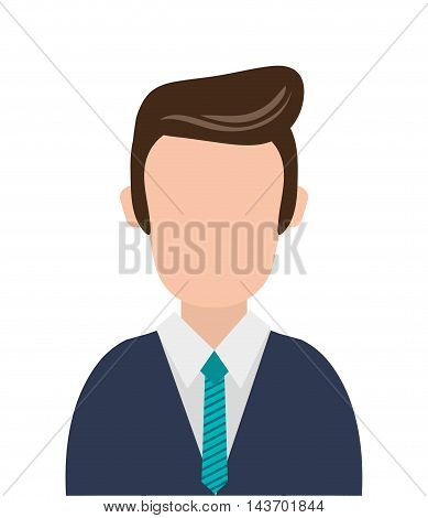 flat design faceless businessman icon vector illustration