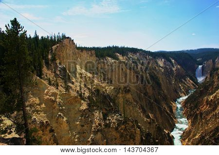 Yellowstone's Grand Canyon in Yellowstone National Park.